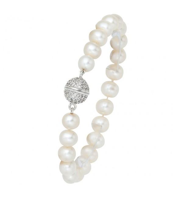 Perlenarmband Süßwasser Perlen 20 - 4053258061619