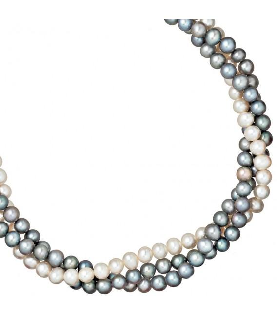 Collier Statement Perlenkette 3-reihig - 4053258209608