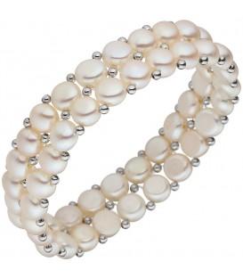 Armband 2-reihig Süßwasser Perlen - 4053258335666