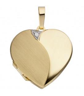 Medaillon Herz 585 Gold - 4053258255209
