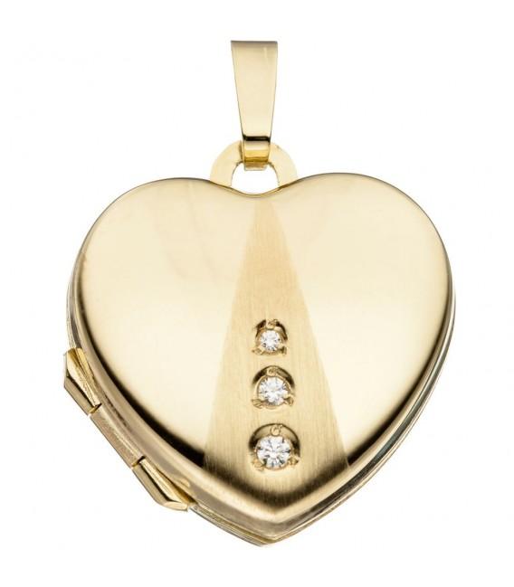 Medaillon Herz 333 Gold - 4053258062548