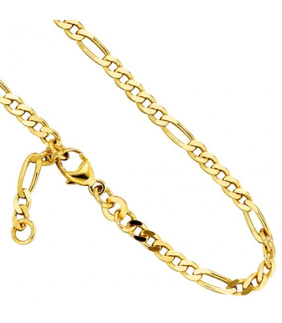 Fußkettchen Fußkette 333 Gold Gelbgold 25 cm Karabiner.