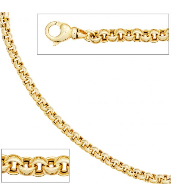 Erbsarmband 585 Gold Gelbgold 19 cm Armband Goldarmband Karabiner.