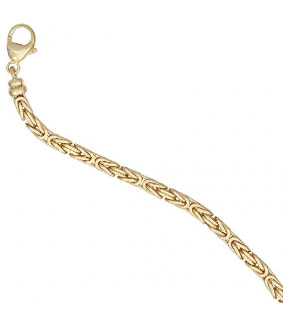 Königskette 585 Gelbgold 3,2 mm 42 cm Gold Kette Halskette Goldkette Karabiner.
