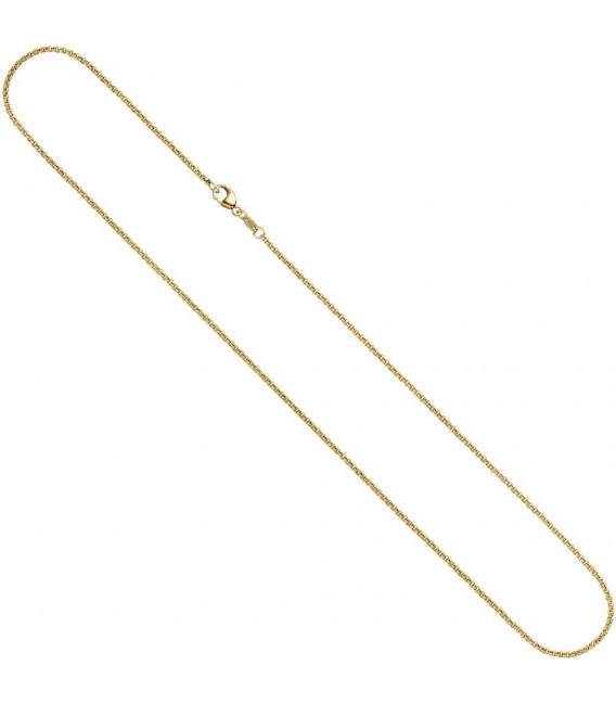 Erbskette 585 Gelbgold 1,5 mm 40 cm Gold Kette Halskette Goldkette Karabiner.