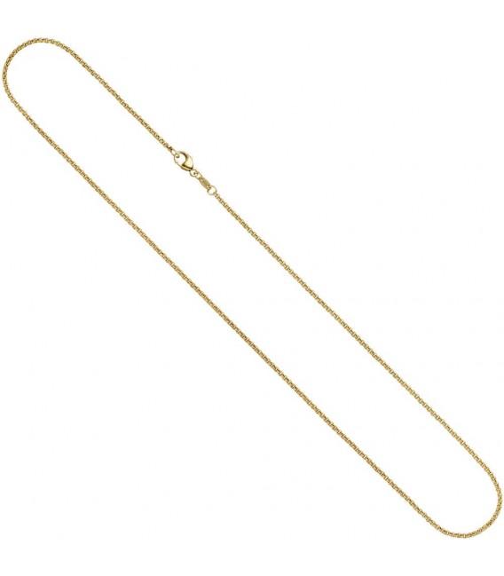 Erbskette 585 Gelbgold 2,5 mm 50 cm Gold Kette Halskette Goldkette Karabiner. Zoom