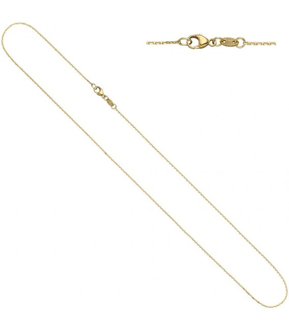 Ankerkette 585 Gelbgold diamantiert - 4053258229606