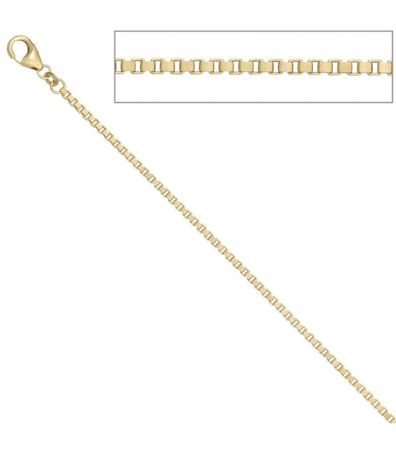 Venezianerkette 585 Gelbgold diamantiert 2 mm 60 cm Gold Kette Goldkette.