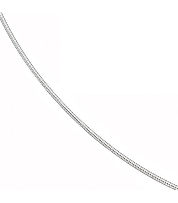 Halsreif 585 Weißgold 1,2 mm 42 cm Gold Kette Halskette Weißgoldhalsreif.
