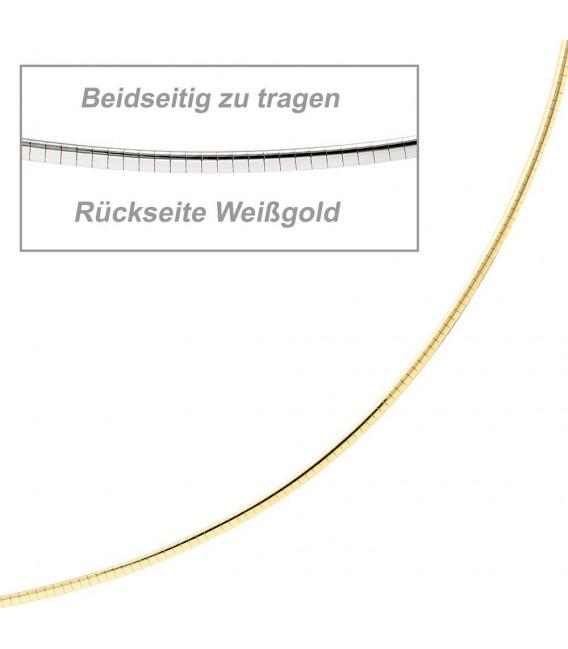 Halsreif 585 Gelbgold Weißgold - 4053258065235