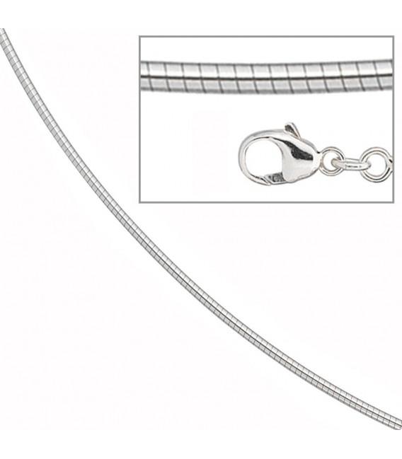 Halsreif 585 Weißgold matt / glänzend 2,0 mm 42 cm Gold Kette Halskette. Zoom