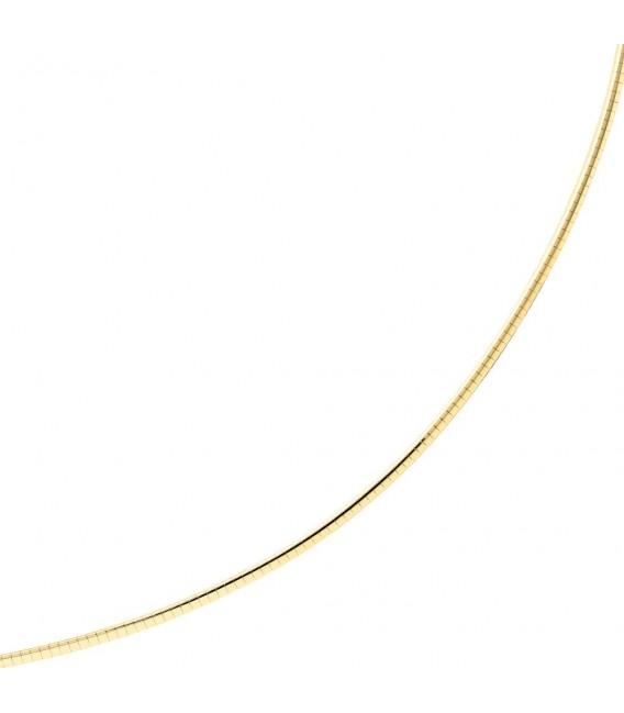 Halsreif 585 Gelbgold Weißgold beidseitig tragbar 42 cm Gold Kette Halskette. Zoom