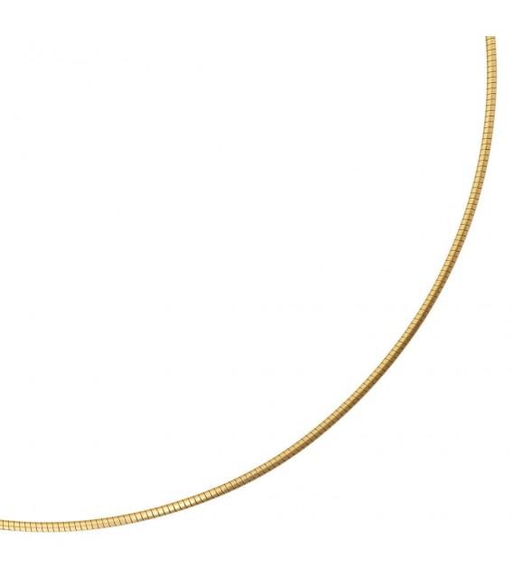 Halsreif 585 Gelbgold matt 1,7 mm 42 cm Gold Kette Halskette Goldhalsreif.