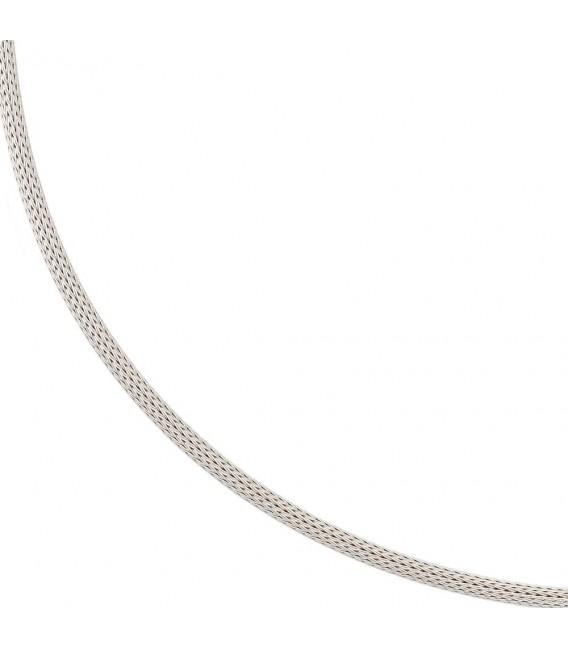 Strumpfkette 585 Gold Weißgold 43 cm Halskette Kette Goldkette Karabiner.