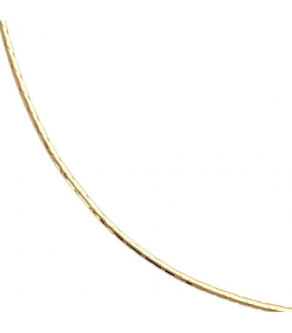 Halskette Kette 585 Gold Gelbgold 45 cm Goldkette Karabiner.