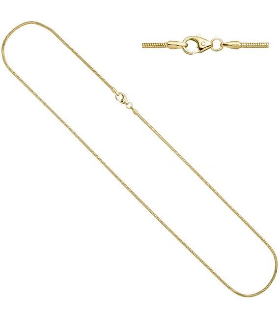 Schlangenkette 585 Gelbgold 14 - 4053258065570 Zoom
