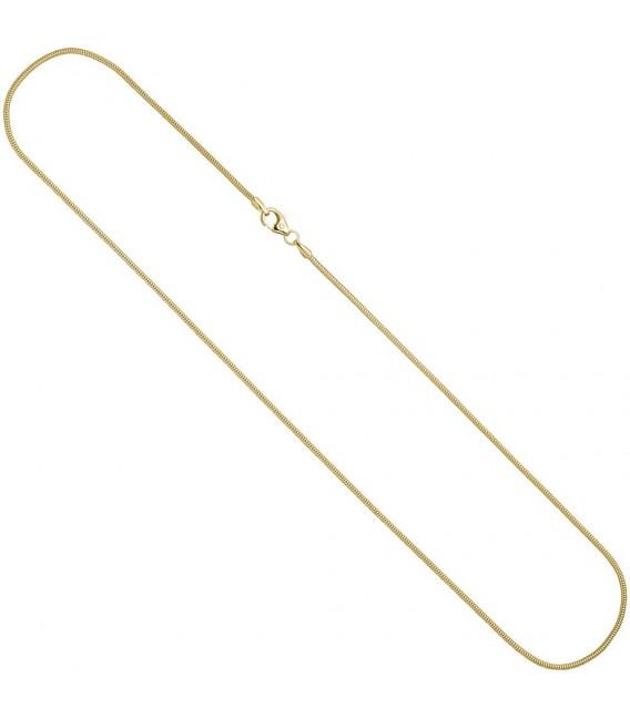 Schlangenkette 585 Gelbgold 1,6 mm 50 cm Karabiner Gold Kette Goldkette.