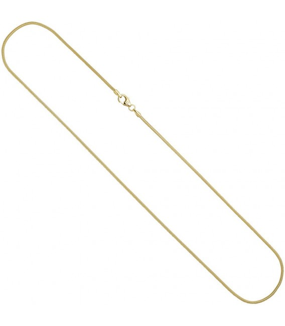 Schlangenkette 585 Gelbgold 1,6 mm 60 cm Karabiner Gold Kette Goldkette.