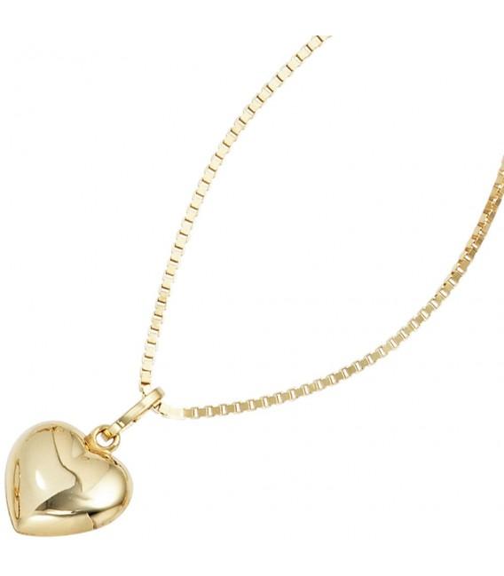 Kinder Anhänger Herz 333 Gold Gelbgold Herzanhänger Kinderanhänger. Bild 3