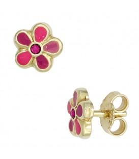 Kinder Ohrstecker Blume rosa - 4053258257807