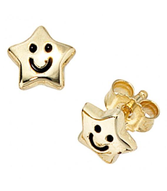 Kinder Ohrstecker Stern Sterne 333 Gold Gelbgold Ohrringe Kinderohrringe.