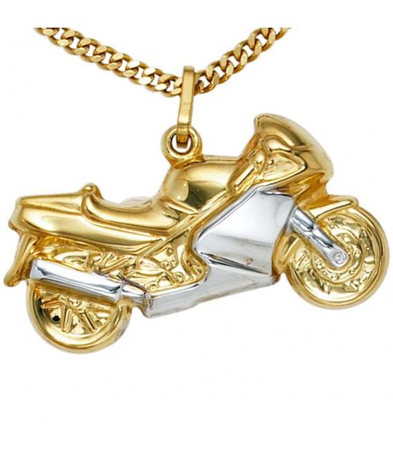 Anhänger Motorrad 333 Gold Gelbgold bicolor.