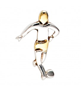 Einzel-Ohrstecker Fußball Fußballspieler 925 - 4053258212622