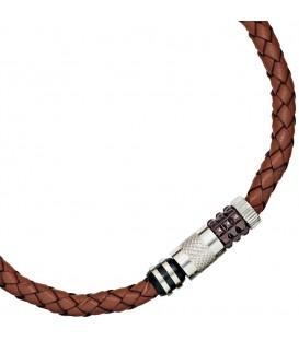 Collier Halskette Leder braun - 4053258213162