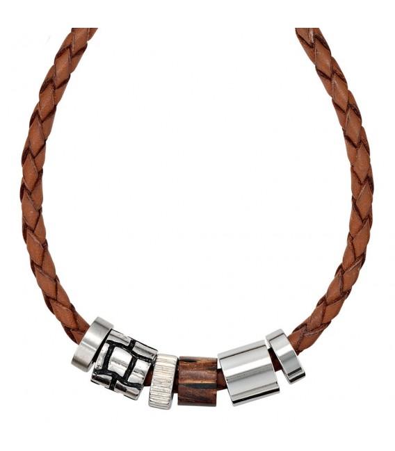Collier Halskette Leder braun - 4053258086933