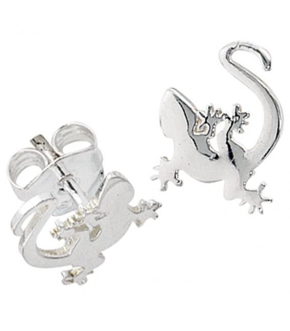 Kinder Ohrstecker Gecko 925 Sterling Silber rhodiniert Ohrringe Kinderohrringe.