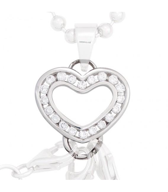 Anhänger Herz Carrier Träger für Charms 925 Sterling Silber 20 Zirkonia. Bild 3