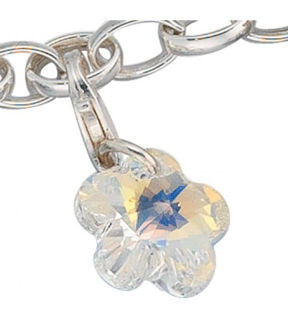 Einhänger Charm Blume 925 Sterling Silber.
