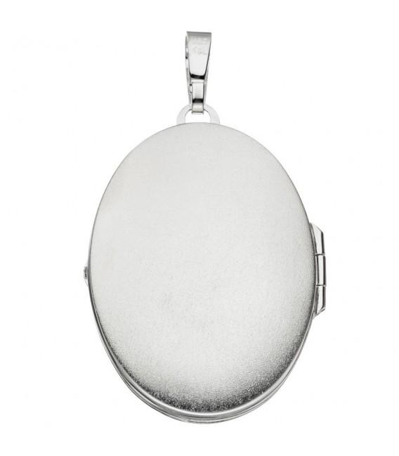 Medaillon oval 925 Sterling Silber Anhänger zum Öffnen. Zoom