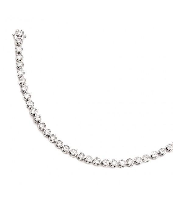 Armband 925 Sterling Silber 42 Zirkonia 19 cm Silberarmband Kastenschloss.