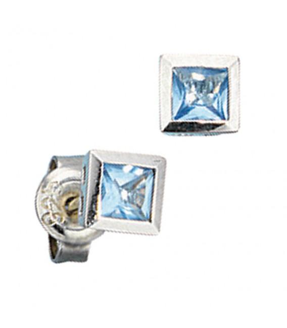 Ohrstecker quadratisch 925 Sterling - 4053258097052