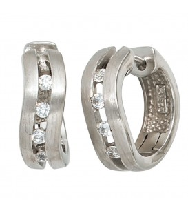 Creolen 925 Silber mattiert - 4053258101575 Produktbild