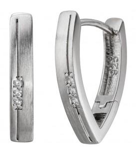 Creolen spitz 925 Silber - 4053258327999