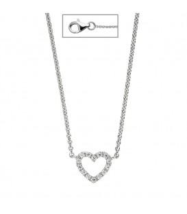 Collier Halskette Herz 925 - 4053258322321