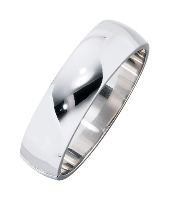 Armreif Armband oval breit 925 Sterling Silber Kastenschloss Silberarmreif.