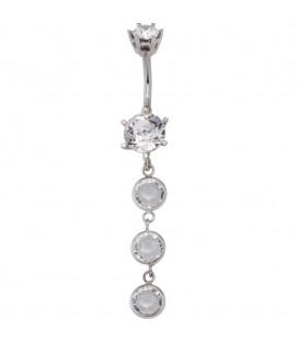 Bauchnabel Piercing 925 Silber - 4053258286456