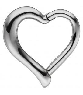 Segmentring Herz aus Edelstahl - 4053258340264