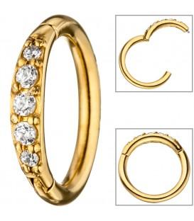 Segmentring Edelstahl gold farben - 4053258322291