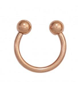 Piercing Edelstahl rotgold vergoldet - 4053258265833