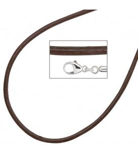 Collier Halskette Leder braun - 4053258104521