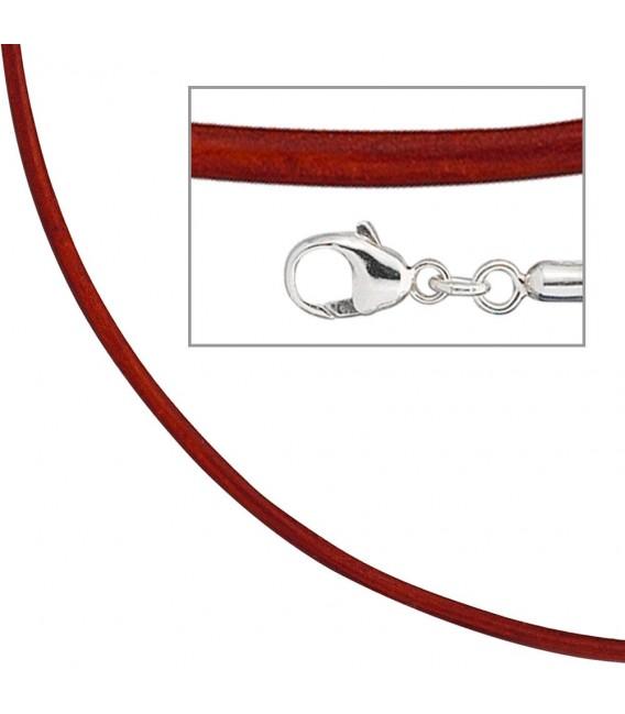 Collier Halskette Leder rot - 4053258104538