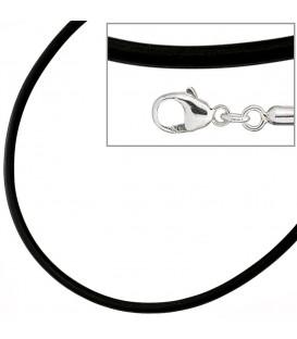 Halskette Kautschuk schwarz mit - 4053258224397