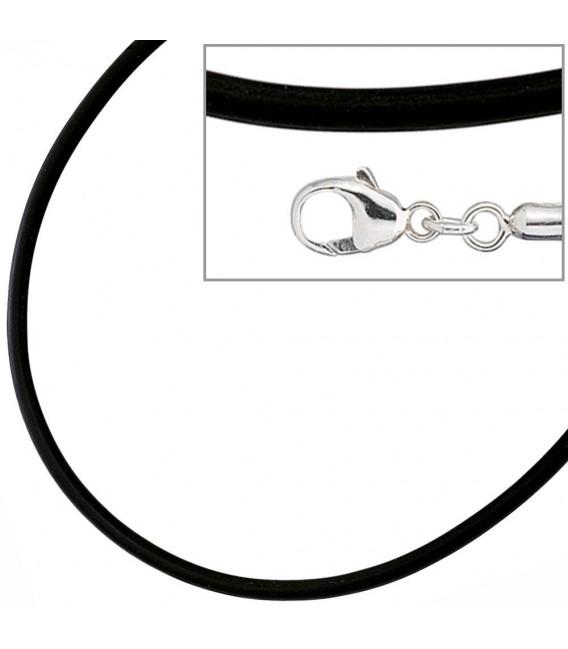 Halskette Kautschuk schwarz mit - 4053258103555