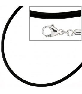 Halskette Kautschuk schwarz mit - 4053258103562