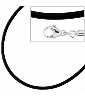 Halskette Kautschuk schwarz mit - 4053258103586