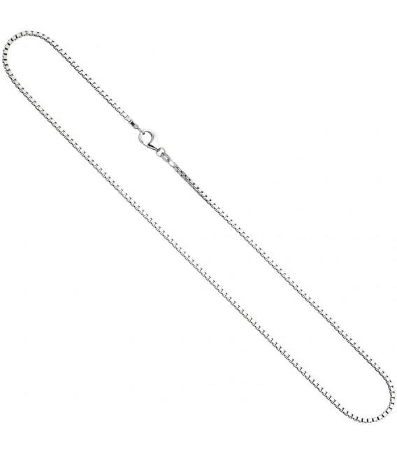 Venezianerkette 925 Silber 1,8 mm 50 cm Halskette Kette Silberkette Karabiner.